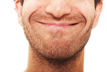 facial expression: Man with happy facial expression Stock Photo