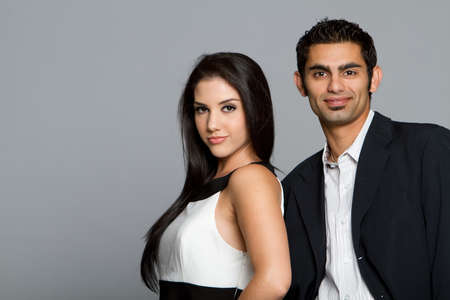 Succesvolle jonge etnische zaken team  Stockfoto