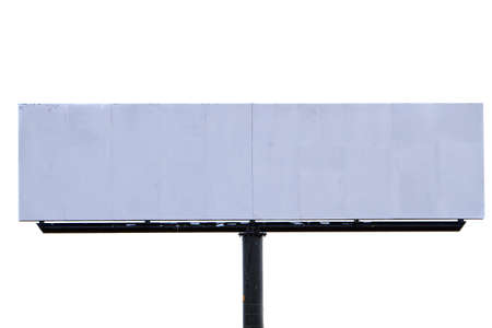 Isolated blank billboard outdoors