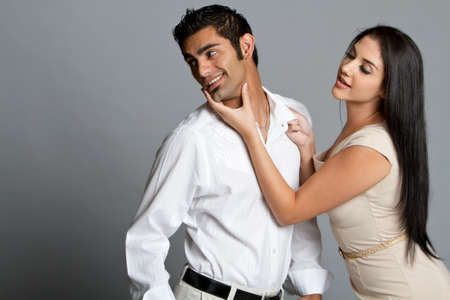 Young multiracial couple having problems between each other Stock Photo - 7492673