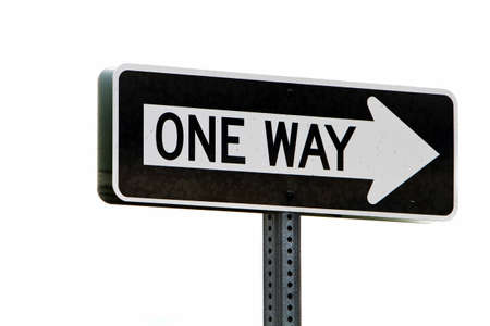 One way directional road sign Stock Photo - 7643444