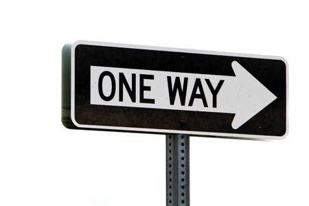 One way direktionaler Straßenschild