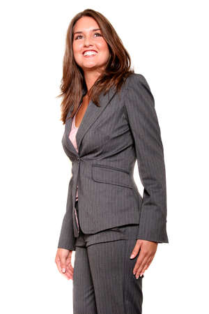 Young pretty business woman in suit photo