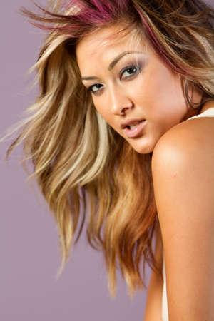 biracial: Beautiful Asian woman in make up