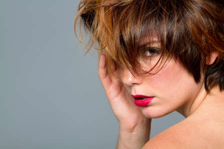 Woman with cute short hair Stock Photo - 7719708