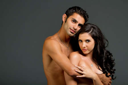 Sexy young ethnic couple in love Stock Photo - 7721015