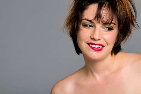 Beautiful young woman with makeup and short hair Stock Photo - 7721018