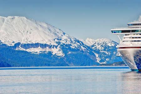 Cruise ship at Prince Williams Sounds Alaska photo