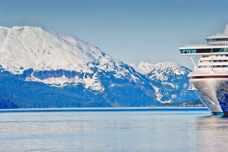 Kreuzfahrtschiff an Prince Williams Sounds Alaska Standard-Bild - 7970305