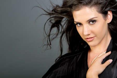 Gorgeous ethnic girl beauty shot