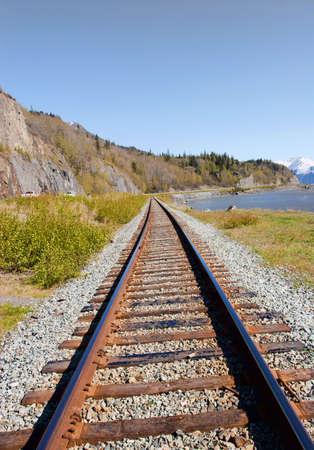 Railroad strectching in Anchorage Alaska
