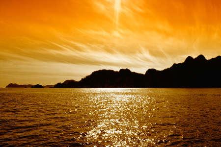 Scenery from Alaska during midnight sun photo