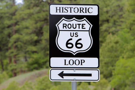 Historic famous route 66 sign in southwest USA photo