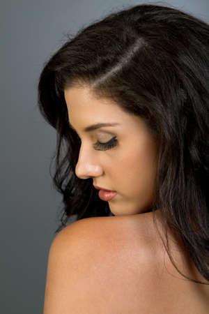 sexy latina: Gorgeous ethnic girl beauty shot