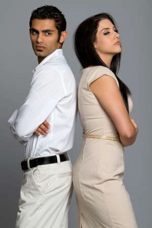 Young ethnic couple disagree on problems Stock Photo - 7970355