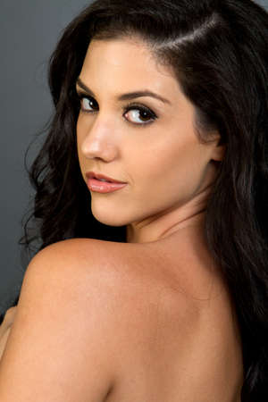 Gorgeous ethnic woman beauty shot photo