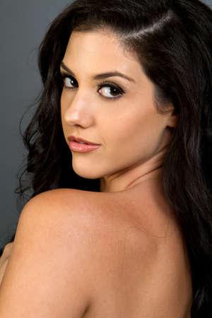 sexy latina: Gorgeous ethnic woman beauty shot