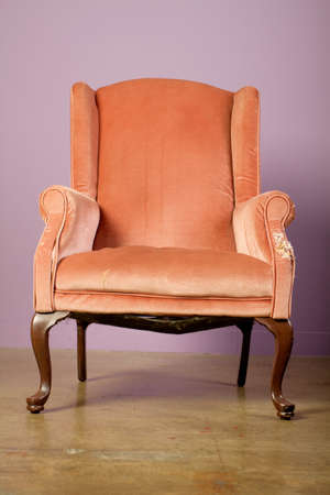 old items: Old antique chair studio shot
