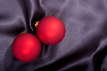 Christmas ornament on black satin material