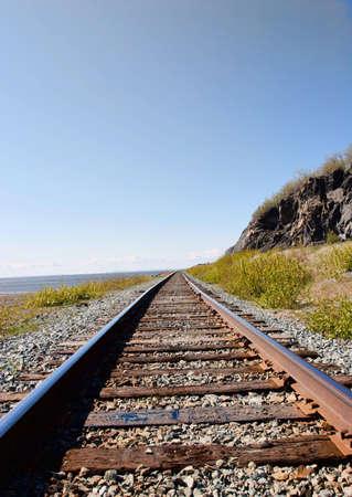 anchorage: Railroad strectching in Anchorage Alaska
