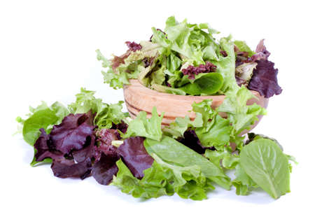 Organic spring mix green leaves for salad