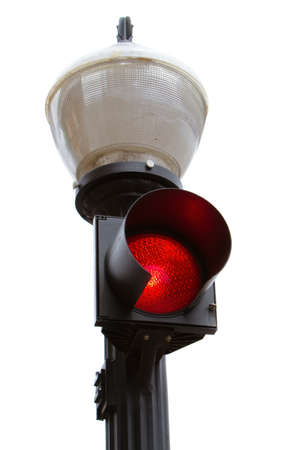 Red traffic or pedestrian light