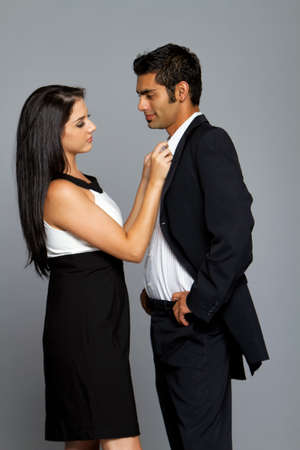 Sexy young ethnic couple in love Stock Photo - 8621496