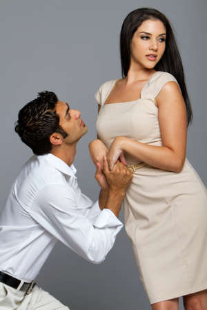 Sexy young ethnic couple in love Stock Photo