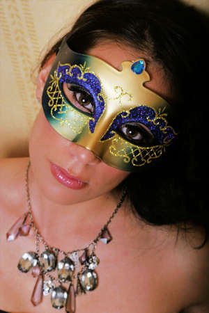 Pretty sexy woman in a carnival mask Stock Photo - 8621141