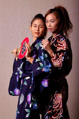 Gorgeous japanese woman wearing kimono robe Stock Photo - 8847655