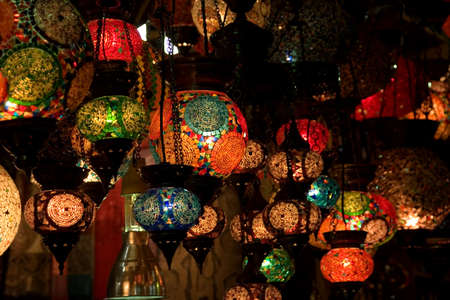 Colorful lanterns in a bazaar Stock Photo - 8847959