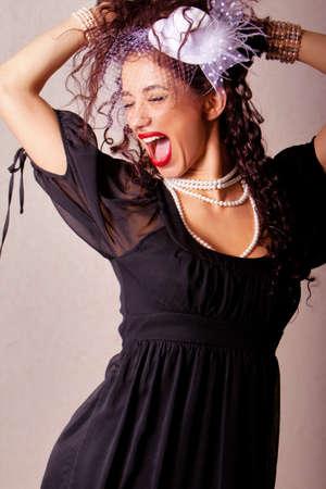 Beautiful ethnic woman fashion shot in studio  photo