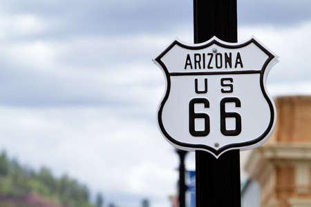 Route 66 Road Sign in Arizona Standard-Bild - 9002740