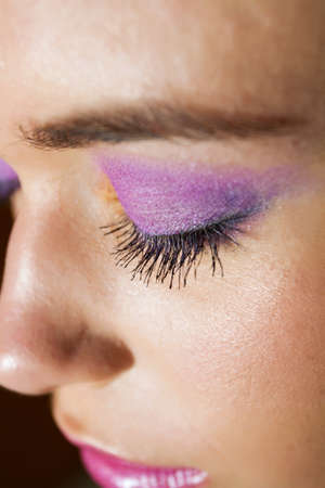Gorgeous Make-up Beautyshot closeup Standard-Bild - 9002900