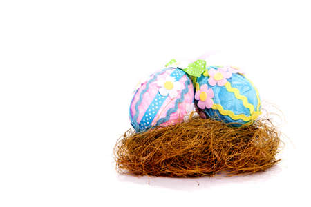 Dekorativ Easter eggs Studio shot Standard-Bild - 9002718