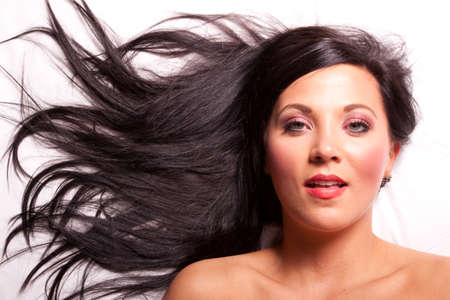 Beautiful brunette Girl with long hair Standard-Bild - 10271208