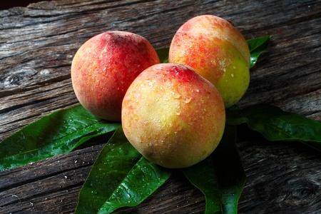 sicilian peach hill Stock Photo
