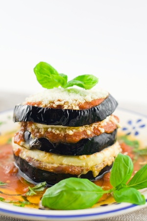 berenjena: berenjenas parmesana con queso y tomate receta tradicional