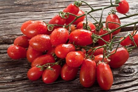 fresh italian cherry tomato on wood