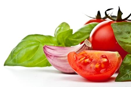 tomato of Pachino , basil and garlic