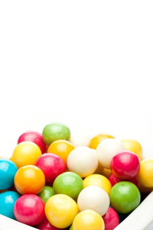 many colored gumballs on a white background Фото со стока - 12964972
