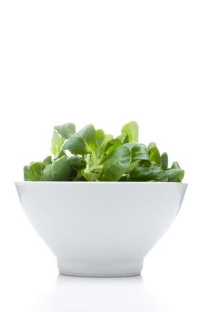 valerian: valerian leaf salad on a bowl