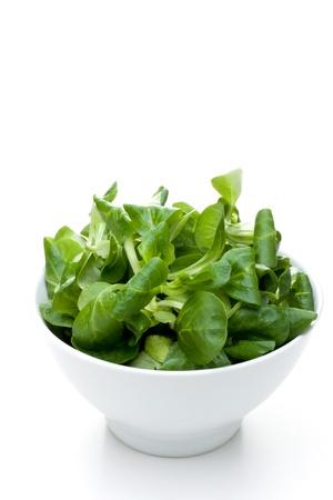 valerian plant: valerian leaf salad on a bowl