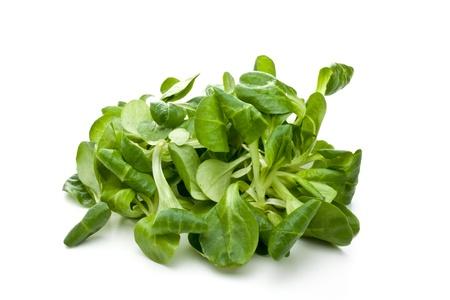valerian leaf salad on a bowl