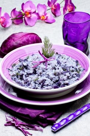 riso with red cabbage - italian recipe