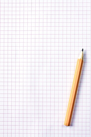 square sheet of paper and pencil