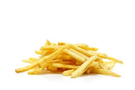 some potato sticks on a white background Фото со стока