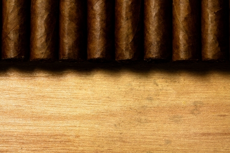 some cuban cigar on wood Фото со стока