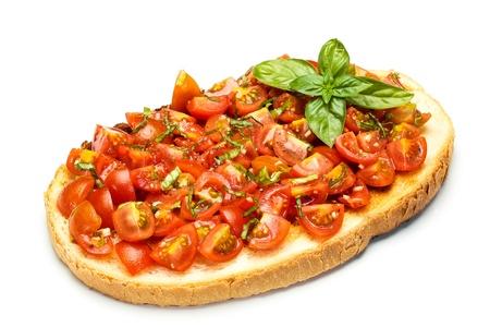 tasty  Mediterranean bruschetta, traditional Italian cuisine Фото со стока - 20592632