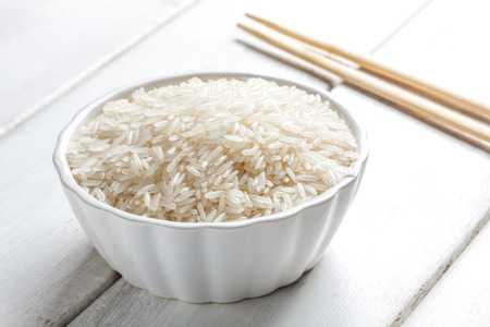 some raw thai rice on a bowl